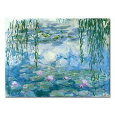 Canvas Print Monet Painting Repro Wall Art Home Decor Water Lilies Blue Green