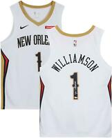 Zion Williamson New Orleans Pelicans Autographed Nike White Swingman Jersey