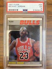 1987 Fleer Michael Jordan #59 PSA EX 5 (51643418)
