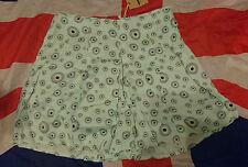 Dr Doc Martens x Agyness Deyn Eyeball Culottes Skirt*Quirky*Grunge*Skingirl*L
