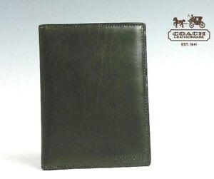 NWT COACH BLEECKER LEGACY PASSPORT CASE F61754 Dark Olive