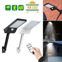 48LED Solaire Télécommande Lumière PIR Motion Sensor IP65 De plein air mur Lampe