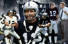 Oakland Raiders Lithograph print of  Kenny Stabler   17 x 11