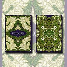 UNICORN EMERALD BICYCLE DECK OF PLAYING CARDS BY ALOY DESIGN & USPCC MAGIC TRICK