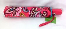 Vera Bradley Call Me Coral Umbrella Automatic New Turquoise Flower Compact