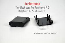 BLACK CASE fits Raspberry Pi 3 board and earlier models Raspberry Pi 2 and B+