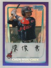 2011 Bowman Chrome Prospects Purple Refractor #026 Chun-Hsiu Chen Indians #/700