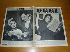 OGGI 1952/9=SAVOIA=RUDOLF CARACCIOLA=KNUT HAMSUN=PIPPO RICCIARDI=MATEROZZI MARIO