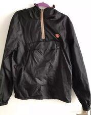 Superdry Men's Black Pull Over Hoodie Overhead Jacket Soft shell Size L Black
