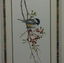 Catherine McClung Original Watercolor Bird & Berries Painting Signd Lenox Artist