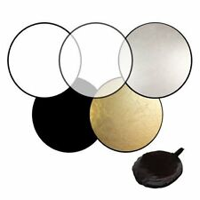 """24"""" 5-in-1 Photo Studio Light Mulit Collapsible Disc Board Reflector 60cm FE"""