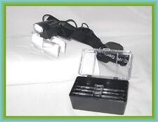 leichte Lupenbrille Kopflupe mit LED  Stirnlupe in 5 Stärken  von 1,0 - 3,5