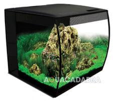 @ Fluval Flex Aquarium 57L Bowfront Fish Tank Black Integrated Filter LED Light