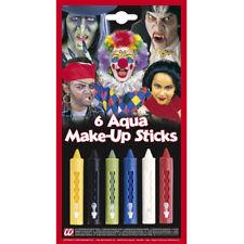 AQUA PARTY MAKEUP SET Halloween Karneval Farbe Farbstifte Kinder Schminke 50041