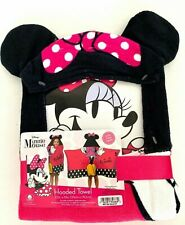 Disney Minnie Mouse Hooded Cotton Bath Towel Wrap Swaddle Poncho Size 21 x 51in