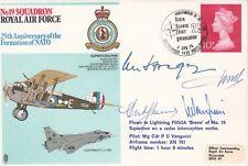 RAF23c 19 Sqn RAF  Flown Lightning Signed Pilot plus 3 VIP's