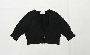 Internacionale Womens Black  Knit Cape Jumper Size 14