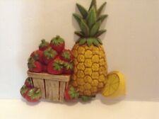 Vintage Homco/Home Interior Kitchen Decor Fruit wall Hanging, #7351