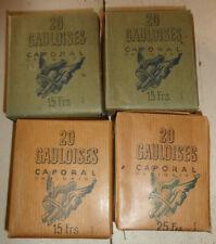 4 ancien paquet de cigarettes gauloise caporal
