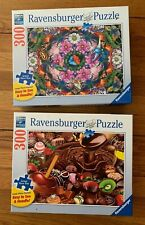 Ravensburger Puzzles Lot 2: Complete 300 Piece Large Format Chocolates Flowers