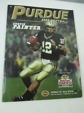Purdue University Football Program 2006 Curtis Painter