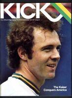 KICK NASL MAGAZINE 1978  COSMOS VS CHICAGO STING / FRANZ BECKENBAUER