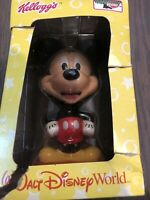 Kellogg's Walt Disney World Mickey Mouse Bobblehead New In Open Box 2002