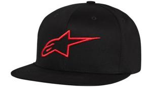 Alpinestars Ageless Flat Bill Hat - Black/Red