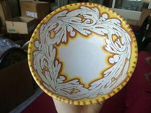 Terrina coppa ciotola ceramica artistica LARCE Orvieto ceramic maiolica 20 cm