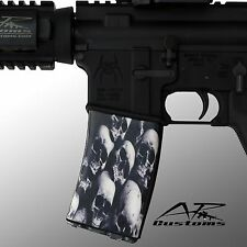 AR Soc Skull Pile / Mag Sock Mag Wraps- fits: Polymer 30rd Mags including PMag