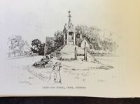 a1o ephemera 1985 book plate cross and stocks lymm
