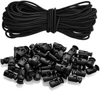 Plastic Cord Locks Elastic Bungee Cord Crafting Stretch String for Mask Bags DIY