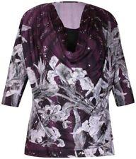Fahrradshorts in Größe 44 Damenblusen, - tops & -shirts mit Wasserfall-Ausschnitt aus Polyester