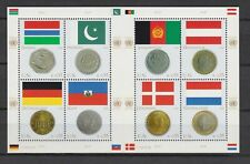 S10795) United Nations (Vienna Wien) MNH 2006, Flags & Coins 8v M/S, Gambia