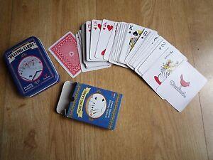 Cardinal Collectors Playing Cards plastic coated carton box in tin Poker Joker