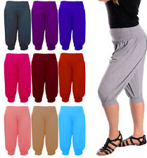 Womens 3/4 Capri Harem Trousers Baggy Short Length Hareem Leggings Pants Plus