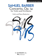 Samuel Barber Concerto for Violin and Orchestra/Piano Op. 14 Revised Music Book!