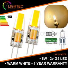 12V WARM WHITE 6W COB G4 LED LIGHT LAMP BULBS 40W HALOGEN EQUIVALENT 1/2/4/6PCS