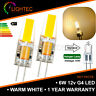 12V WARM WHITE 6W COB G4 LED LIGHT LAMP BULBS 40W HALOGEN EQUIVALENT 1/2/4/6PCS