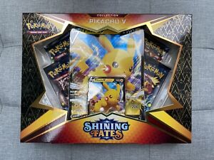 Pokémon Shining Fates Pikachu V Box | NEW & SEALED | 4 Booster Packs | In Hand