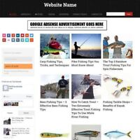 FISHING SHOP - Professionally Designed Affiliate Website Business For Sale
