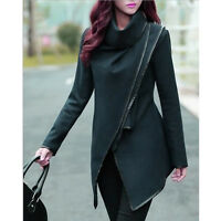 New Women Trench Winter Warm Coat Long Wool Jacket Outwear Slim Parka Overcoat