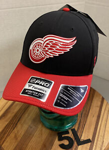 NWT FANATICS DETROIT RED WINGS HAT BLACK/RED SIZE SM NEVER WORN 5L