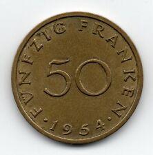 Germany - Saarland- 50 Frank 1954