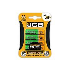 4 X JCB 1200 mAh Nimh Rechargeable Li-Ion Batteries AA Precharged Battery