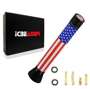 """JDM Mini 3"""" United State Country Flag Universal Fit Vehicle AM/FM Antenna Y397"""