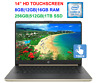 "2019 HP 14"" TouchScreen Laptop i3-8145U (>i5-7200U), 3.9GHz,16GB RAM & 1TB SSD"