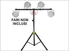 Stativo Luci Asta Stand Treppiede X PAR LED- TESTE MOBILI 18 36 54 Extreme Sound