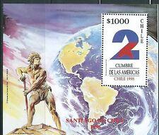 CHILE 1998 Cumbre de las Américas souvenir sheet MNH