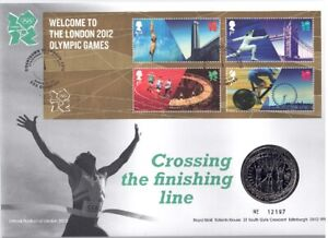 QEII  Coin cover 2012 (Welcome to London Olympics) £5 Royal Mint
